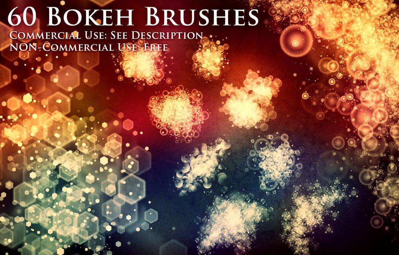 60种波克效应(bokeh effect)光斑、光晕PS笔刷素材(带自定义样式风格.asl文件)