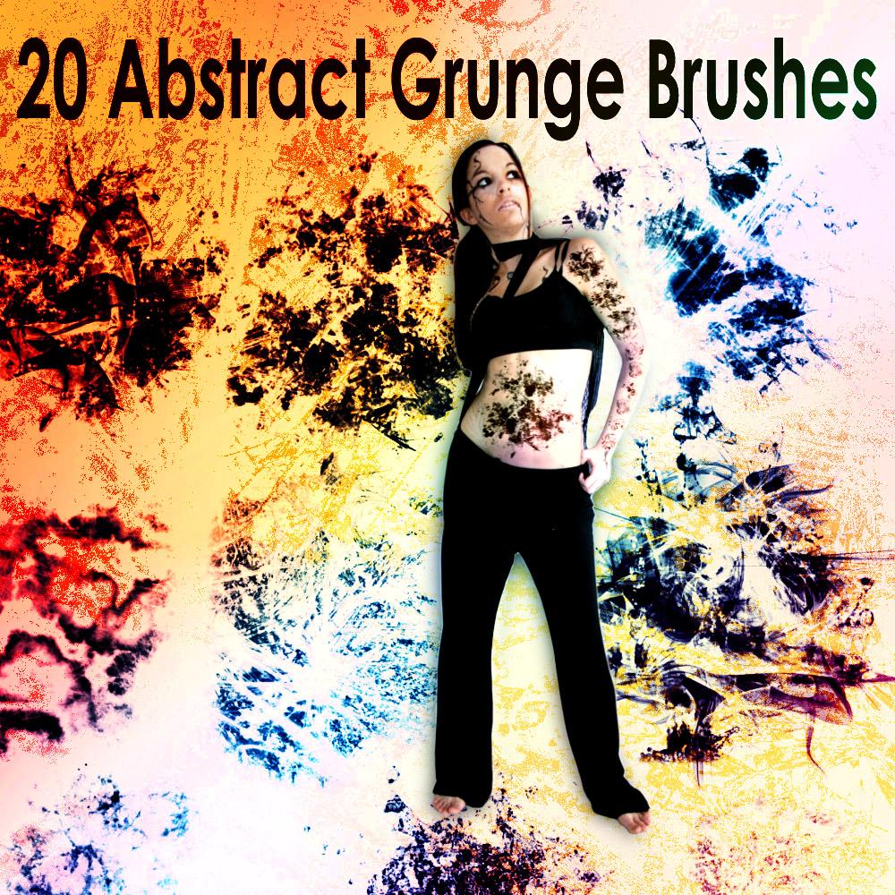 20种抽象复杂、迷幻的形状图像PS笔刷(带自定义样式风格.asl文件)