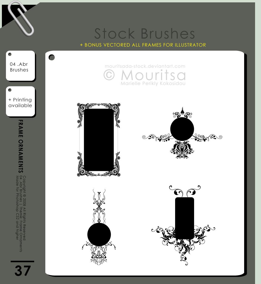 精美欧式画框、相框印花PS笔刷素材