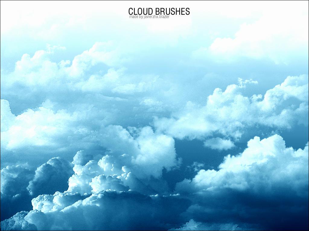 高空云彩、白云纹理材质PS笔刷素材
