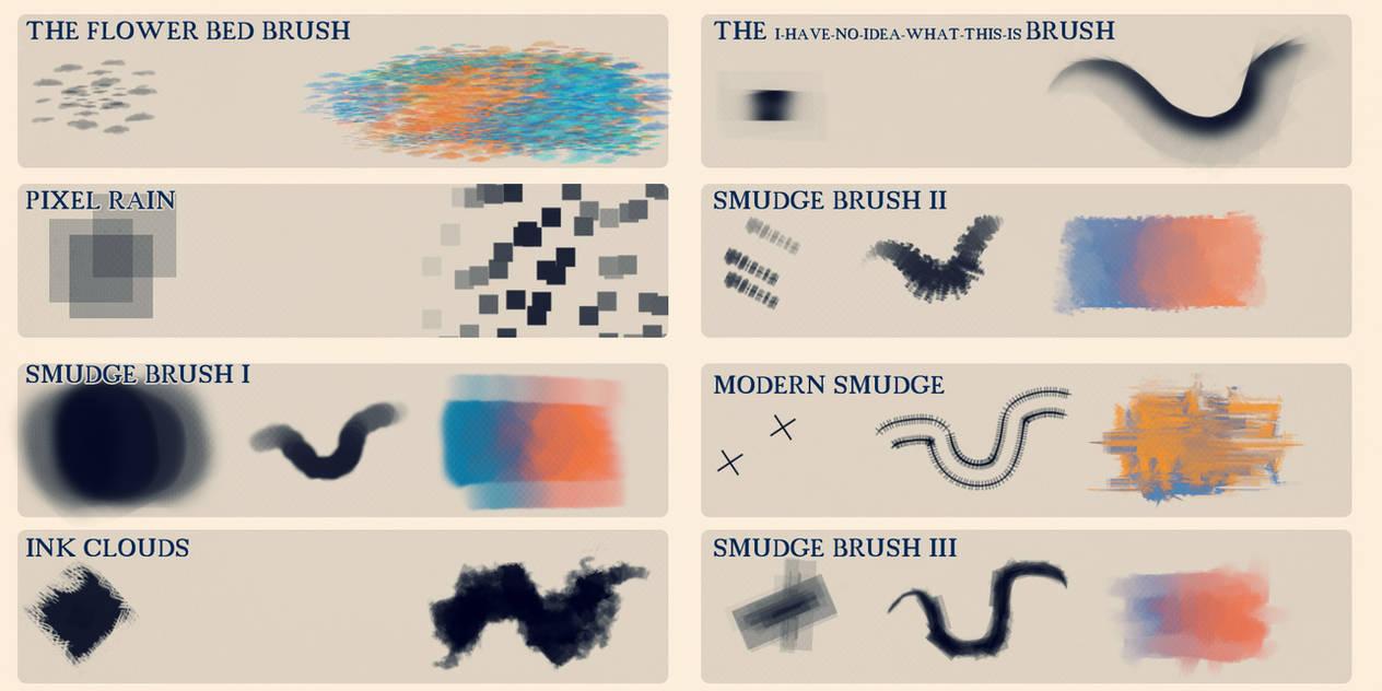 8种污秽、污渍效果PS笔刷素材