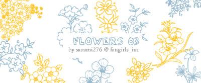 鲜花、花纹艺术、手绘印花PS笔刷