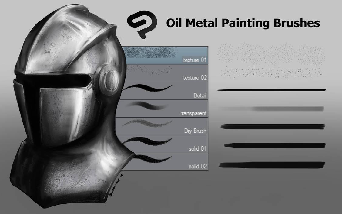 免费 CSP 金属绘画刷套装素材下载(非PS笔刷,CSP画笔)