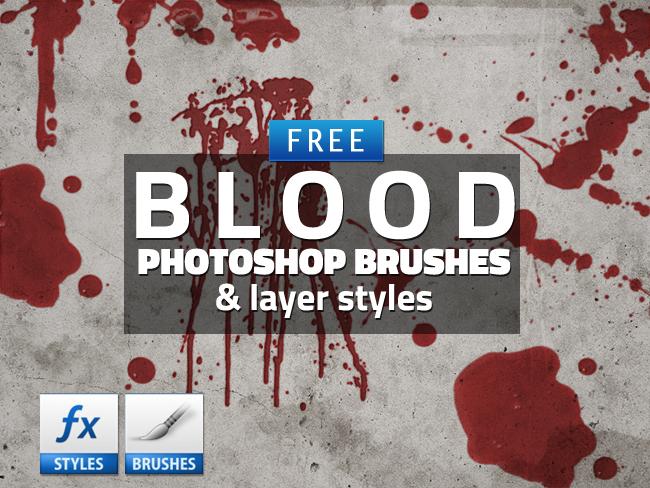 血迹滴溅、液体溅射PS笔刷素材