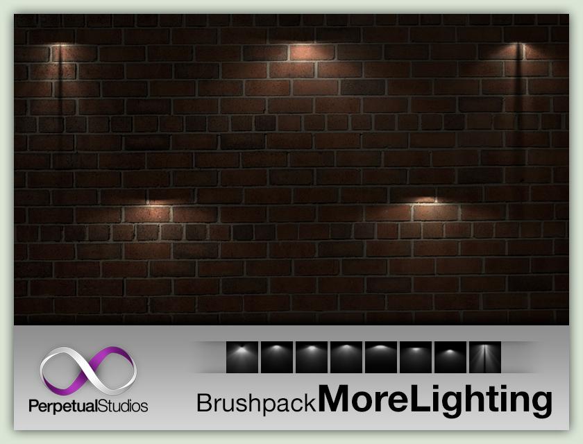 灯光照射、照明投射效果PS笔刷素材