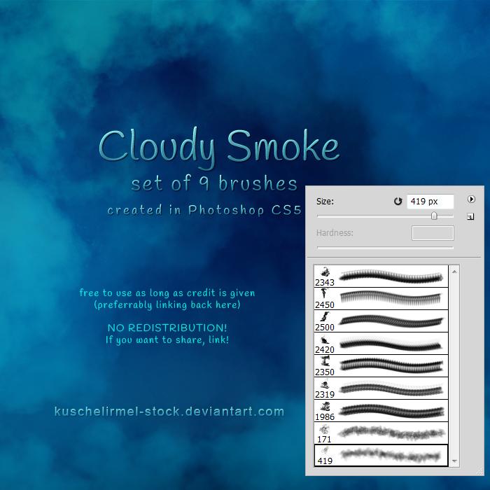 云雾、白云、雾气效果PS笔刷素材