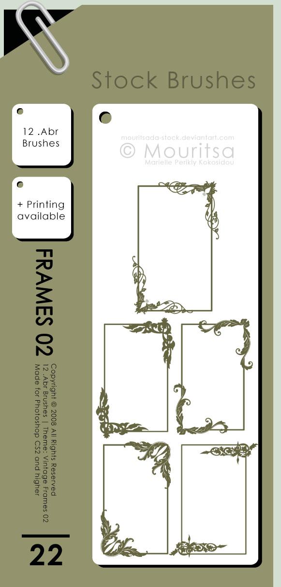 高贵的艺术花纹边框图案PS笔刷素材