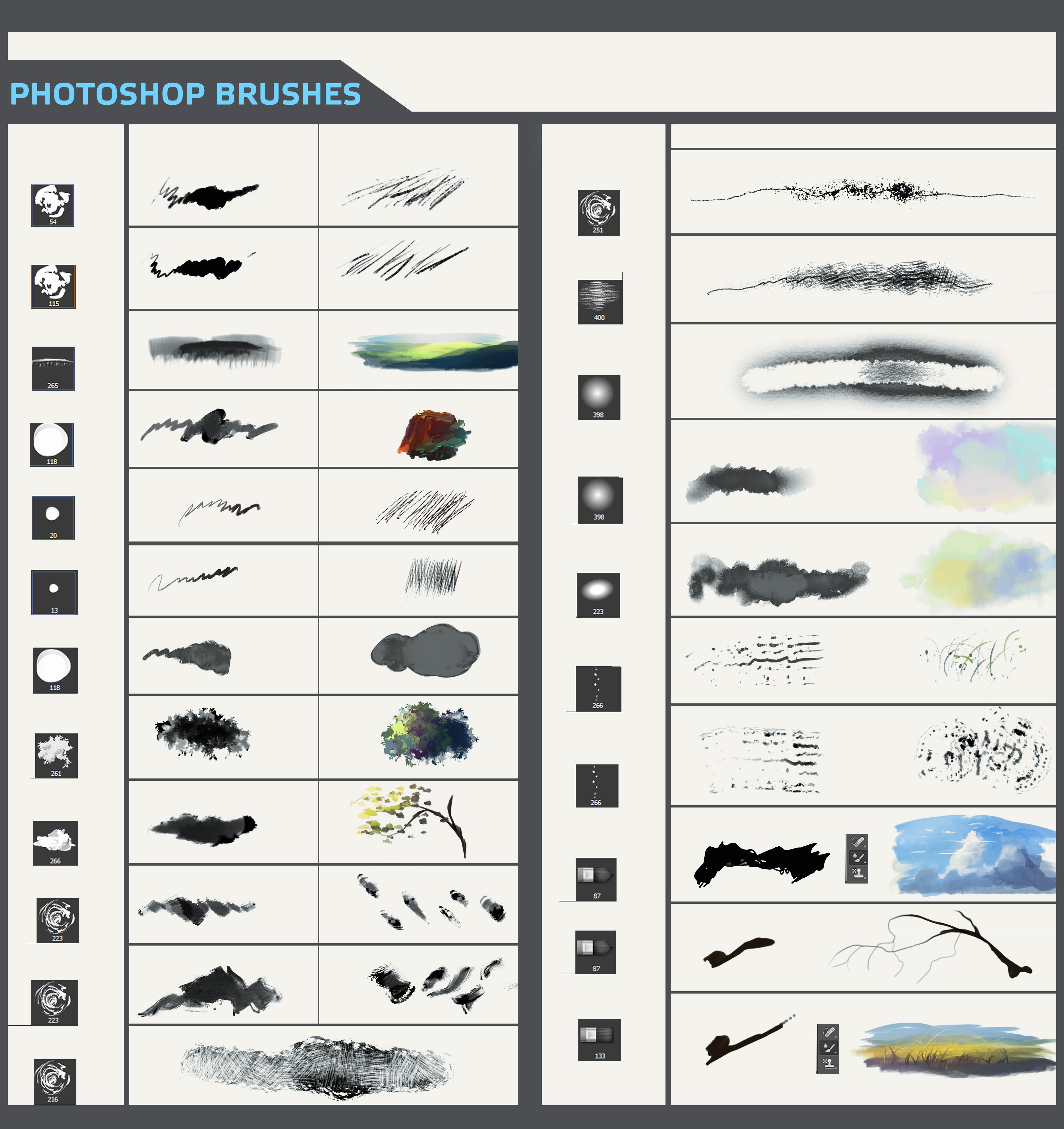 Photoshop插画、插画创作笔刷素材