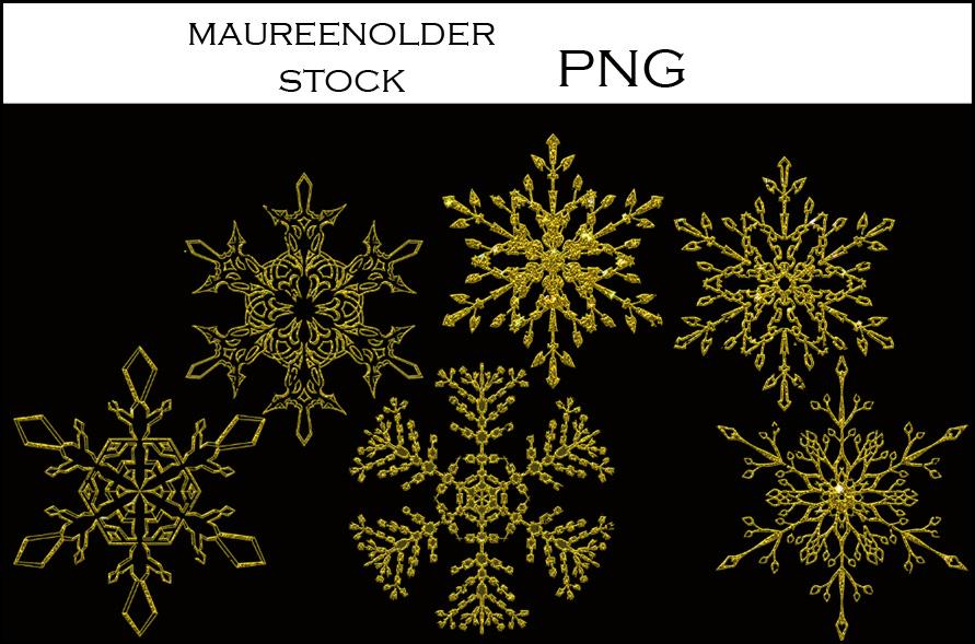 精美雪花、冰晶形状PS图形笔刷(PNG图片格式)