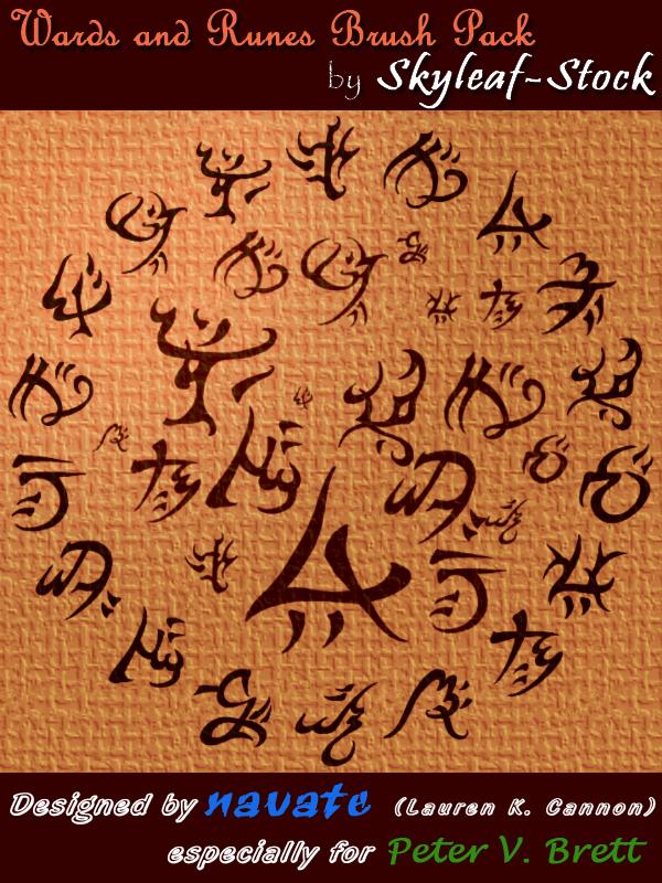 神秘文字符号印记PS笔刷素材