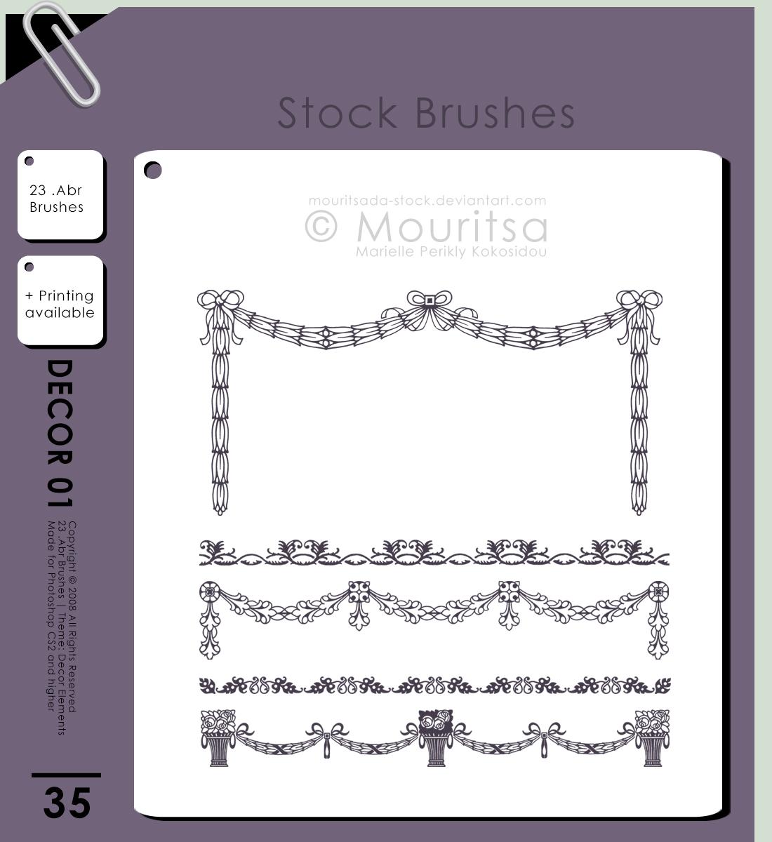 花式窗帘装扮图案素材PS笔刷