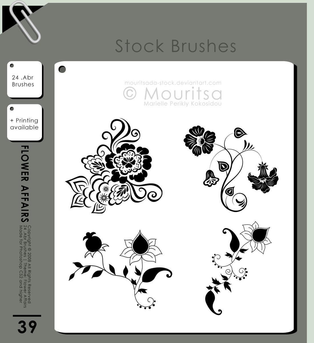 精美的欧式鲜花花纹、花卉印花PS笔刷