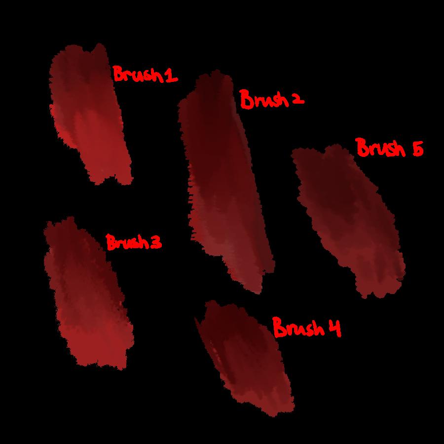 血迹斑斑、油漆颜料污渍纹理PS笔刷(PNG图片格式)