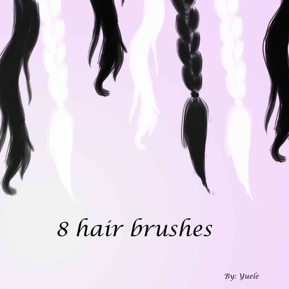 女士长发、辫子图形PS笔刷素材