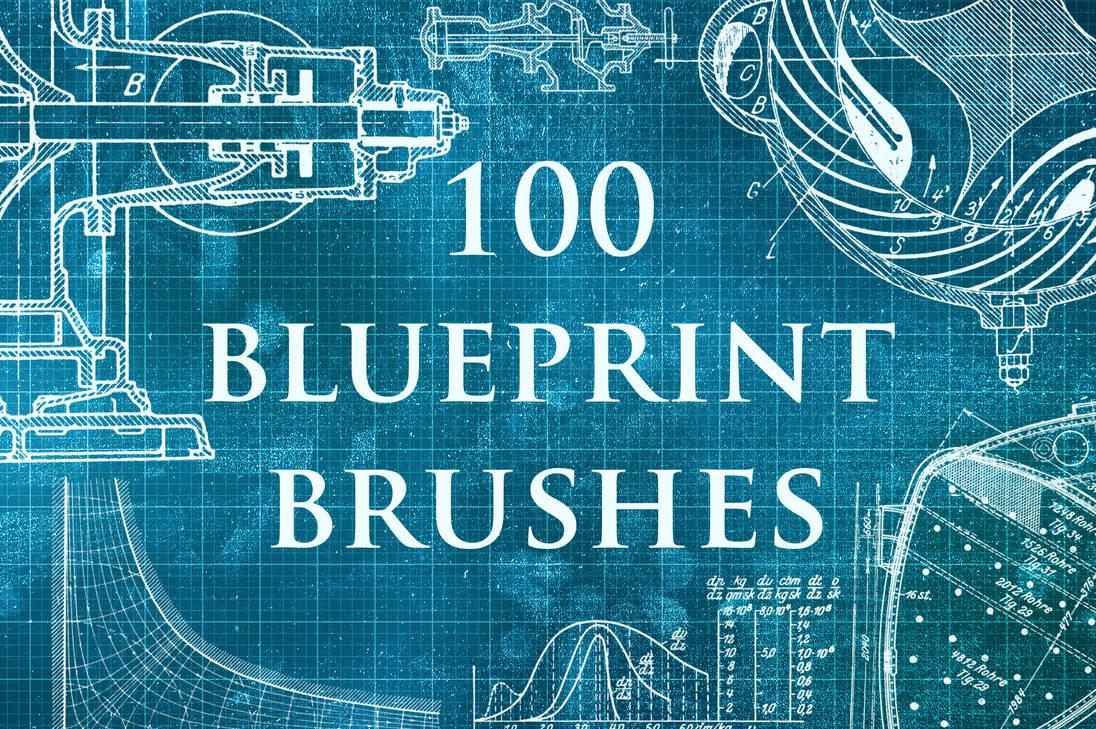 100种工程蓝图模板、图纸PS笔刷素材