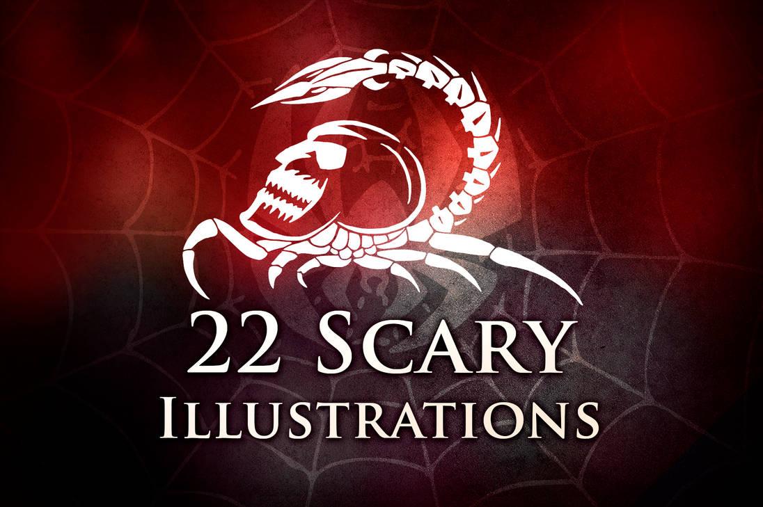 22种魔鬼刺青、纹饰、可怕图案PS笔刷素材